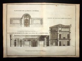 Vignola 1720 Architectural Print. Building Elevation 93